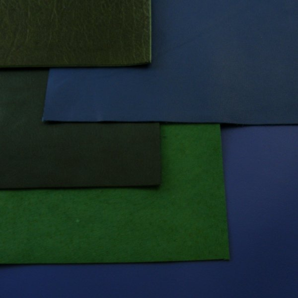 Green & Blue Leathers A4 Size
