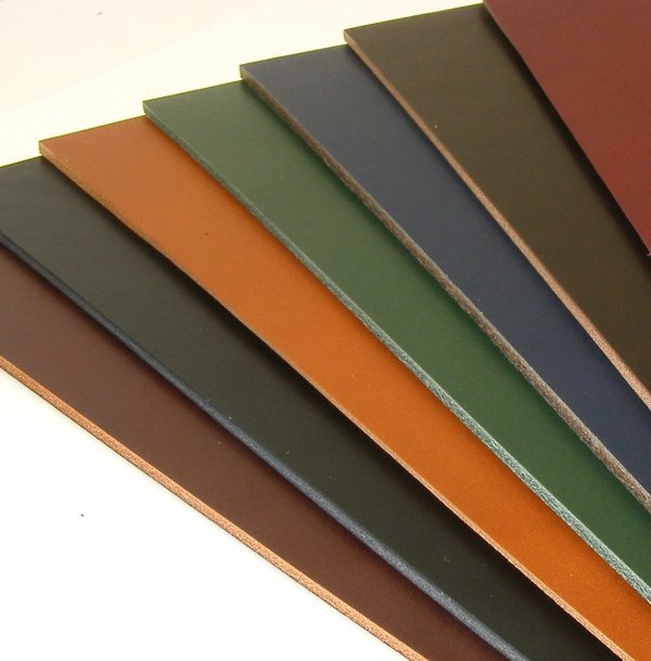 2-2.5mm & 3mm Coloured Vegetable Tanned Leathers