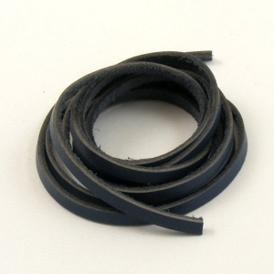 1 Metre Flat Navy Blue Leather Thong 3mm x 1mm