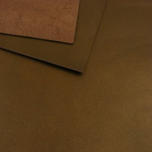 1.1mm Metallic Bronze Brown Leather A4