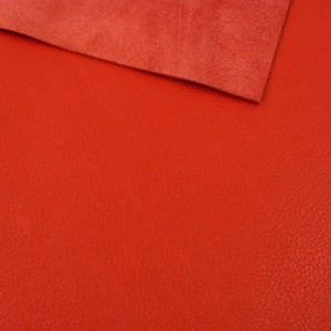 1.2mm Bright Red Crease Textured Leather 30x60cm