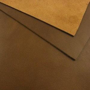 1.4mm Glossy Mid Brown Leather A4