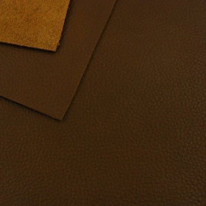 1.4mm Grained Chocolate Brown Leather A4