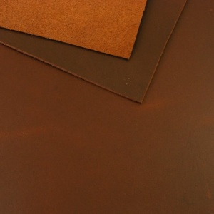 1.5mm Smooth Conker Brown Leather A4