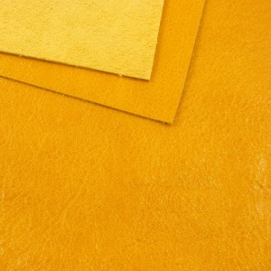 1.6mm Golden Yellow Crease Textured Leather 30x60cm