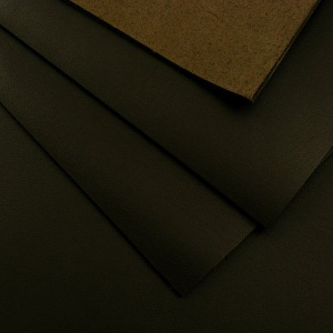 1.6mm Smooth Dark Brown Leather 30x60cm