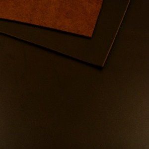 1.7mm Glossy Rich Brown Leather A4