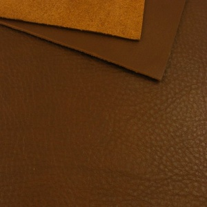 1.9mm Choc Brown Crease Textured Leather 30x60cm