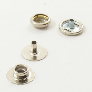 10 Small Nickel Plated Press Studs For Leather
