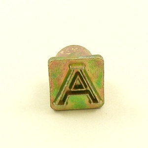 12mm Modern Letter A Embossing Stamp