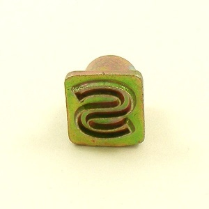 12mm Modern Letter S Embossing Stamp