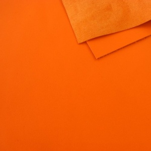 1mm Smooth Cowhide Orange A4