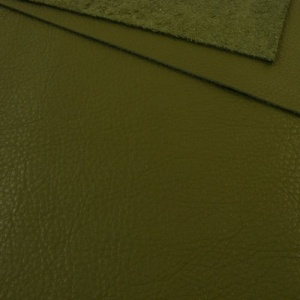 1mm Textured Soft Cowhide Olive Green A4