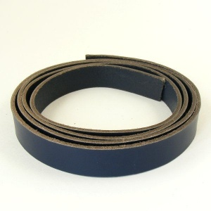 2 - 2.5mm Blue Vegetable Tanned Leather Strip