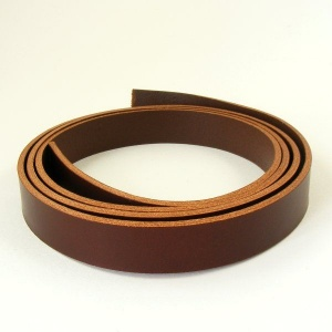 2 - 2.5mm Chestnut Brown Vegetable Tanned Leather Strip
