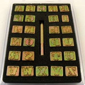 Decorative Alphabet Letter Stamps for Leather 3/4'' (20mm)