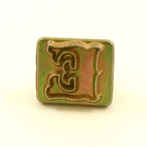 20mm Decorative Letter E Embossing Stamp