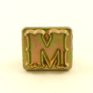 20mm Decorative Letter M Embossing Stamp