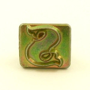 20mm Decorative Letter S Embossing Stamp