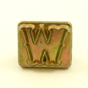 20mm Decorative Letter W Embossing Stamp