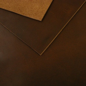 2mm Oily Dark Brown Vegetable Tanned Leather 30 x 60cm