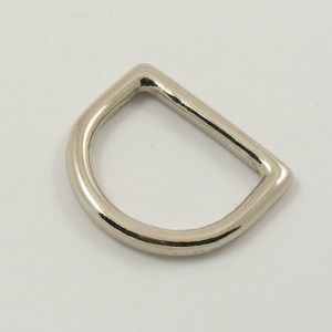 "32mm 1 1/4"" Nickel Silver D Ring"