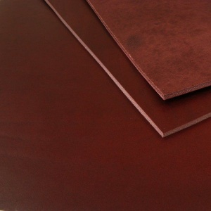 3mm Burgundy Vegetable Tanned Cowhide A4