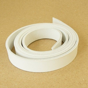 3mm White Leather Strip