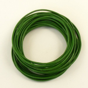 Grass Green Leather Thonging 2mm Round 5 Metres