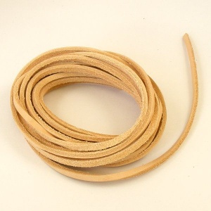 5 Metres Leather Boot Lace Undyed Natural