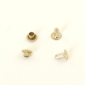 6.5mm Nickel Plated Rivets - 6mm Cap