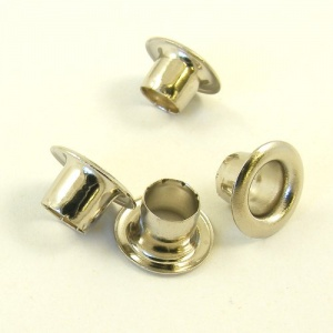 6.5mm Nickel Eyelets for Leather & Craft