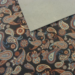 1.6mm Blue Paisley Print Leather A4