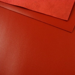 1.2 - 1.4mm Bright Red Calf Leather A4