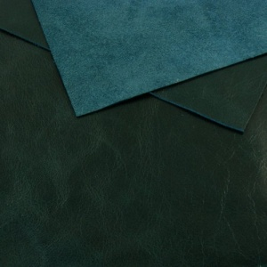 0.8-1mm Glossy Cowhide Sea Green A4