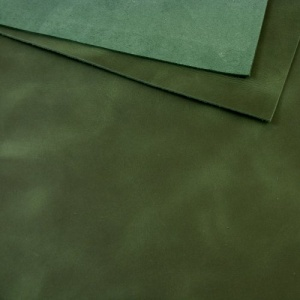 2mm Dark Green Rustic Style Leather A4
