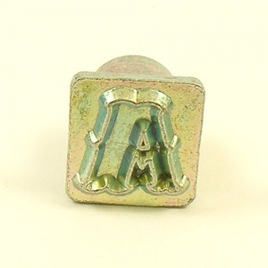 12mm Decorative Letter A Embossing Stamp