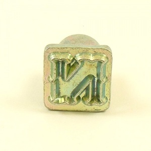12mm Decorative Letter N Embossing Stamp