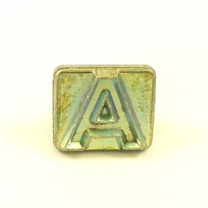 20mm Modern Letter A Embossing Stamp
