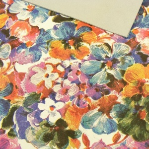 1.4mm Bright Pansy Print Leather 30x60cm