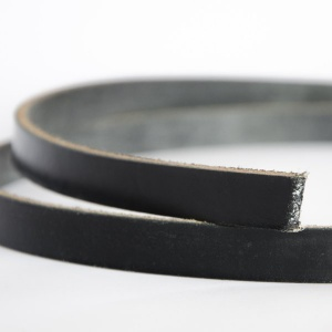 Black 4mm HEAVY Saddlery Leather Strips