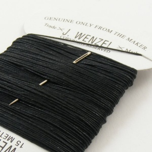 Black Linen Wenzel Carded Thread