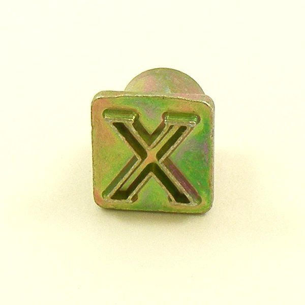 12mm modern letter x embossing stamp artisanleathercouk for Leather embossing letters