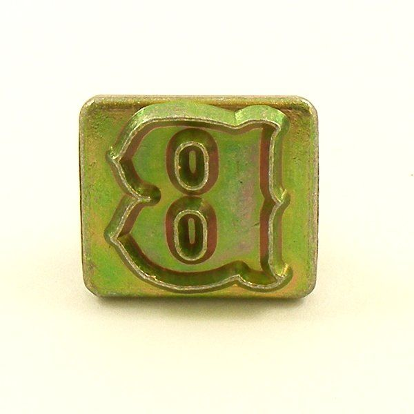 20mm decorative letter b embossing stamp artisanleather for Leather embossing letters