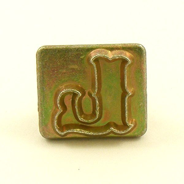 20mm decorative letter l embossing stamp artisanleather for Leather embossing letters