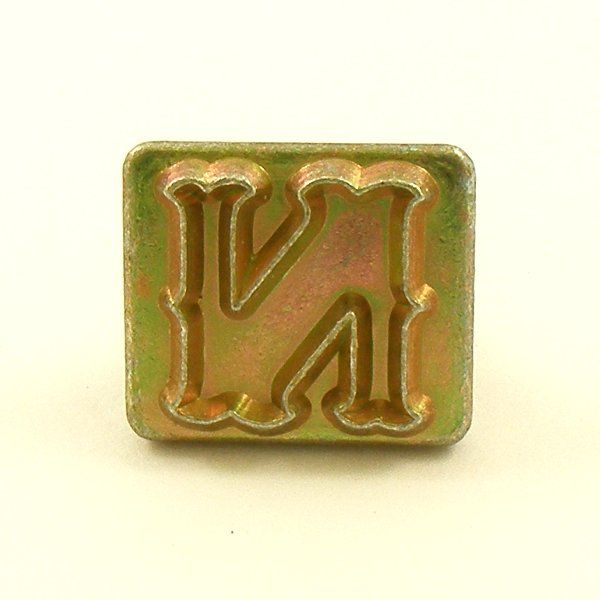 20mm decorative letter n embossing stamp artisanleather for Leather embossing letters