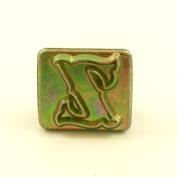 20mm decorative letter z embossing stamp artisanleather for Leather embossing letters