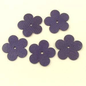 Leather Flowers  - Large Purple