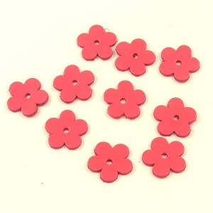 Leather Flowers - Small Bright Pink