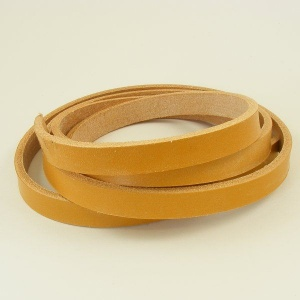 Light Tan 4mm HEAVY Saddlery Leather Strips